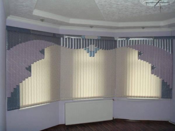 Мультифактурные Вертикальные жалюзи Пластик + Ткань