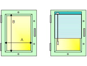 установка горизонтальних жалюзі на стулку вікна