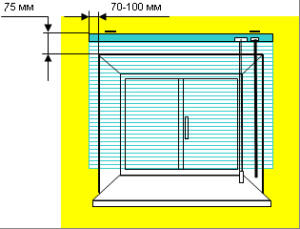 установка горизонтальных жалюзи в накладку на стену