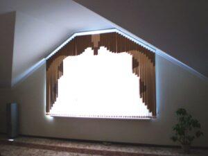 Пример работы Жалюзи вертикальные мультифактурные для мансарды