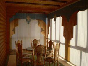 Пример работ Жалюзи вертикальные мультифактурные для малого банкетного зала