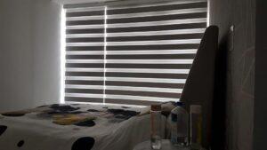 Рулонные шторы День-Ночь Венеция в спальню