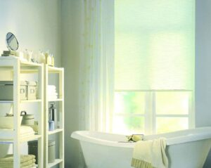 пример работы для рулонных штор классических с тканью Лен